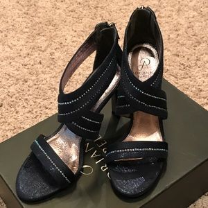 Adrianna Papell  navy dress heels, size 8 1/2
